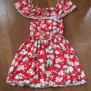 Cotton on off shoulder dress with lace trim S/P